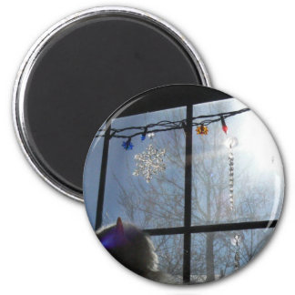 Sunny December 2 Inch Round Magnet
