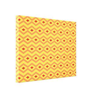 Sunny Diamond Zigzag Canvas