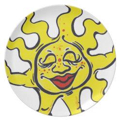 sunny dinner plate