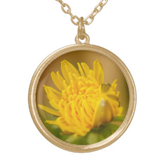 Sunny Disposition Round Pendant Necklace