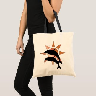 Sunny Dolphin Tote Bag