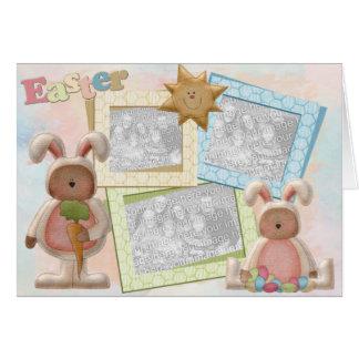 Sunny Easter Triple Photo Frame Card