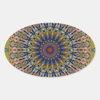 Sunny Fall Day Kaleidoscope Oval Sticker