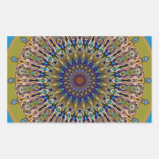 Sunny Fall Day Kaleidoscope Rectangular Sticker