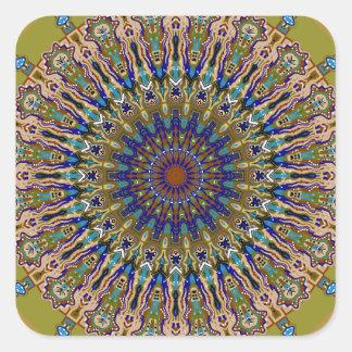 Sunny Fall Day Kaleidoscope Square Sticker