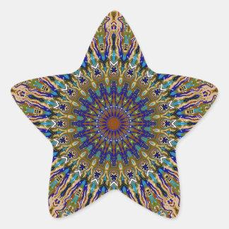 Sunny Fall Day Kaleidoscope Star Sticker