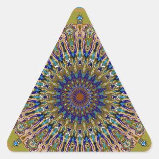 Sunny Fall Day Kaleidoscope Triangle Sticker