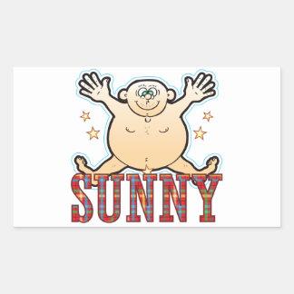Sunny Fat Man Rectangular Sticker