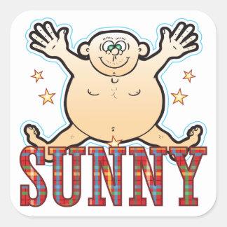 Sunny Fat Man Square Sticker