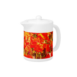 Sunny Field of Red Poppies Wildflowers Art Design