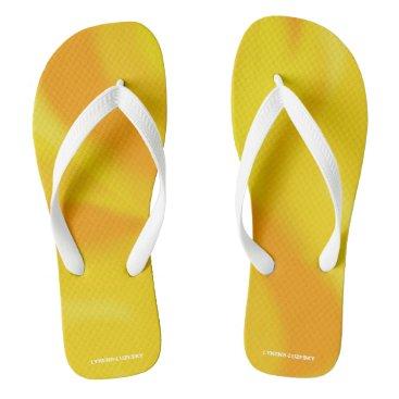 Beach Themed sunny flip flops
