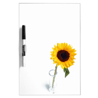 Sunny floral bright Sunflower flower photograph Dry-Erase Whiteboards