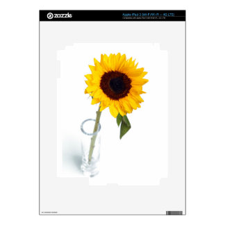 Sunny floral bright Sunflower flower photograph iPad 3 Skin