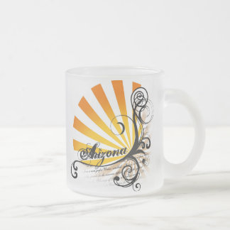 Sunny Floral Graphic Arizona Mug Glass