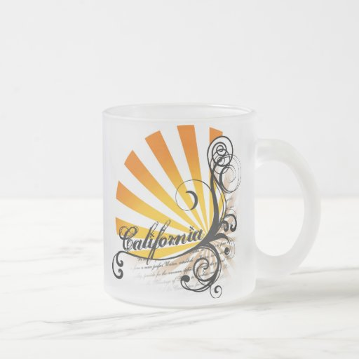 Sunny Floral Graphic California Mug