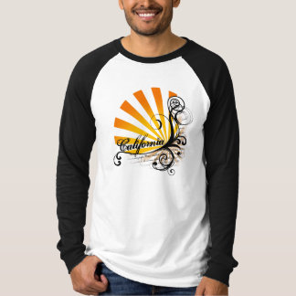Sunny Floral Graphic California T-Shirt Jersey