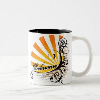 Sunny Floral Graphic Delaware Mug