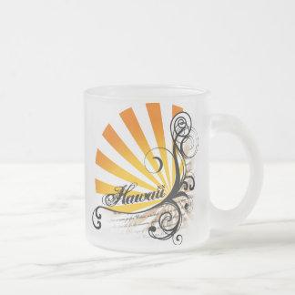 Sunny Floral Graphic Hawaii Mug Glass