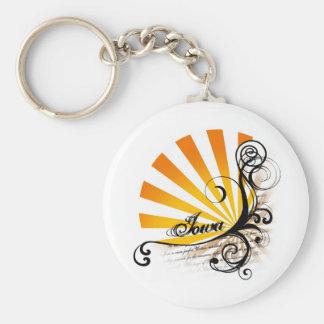 Sunny Floral Graphic Iowa Keychain