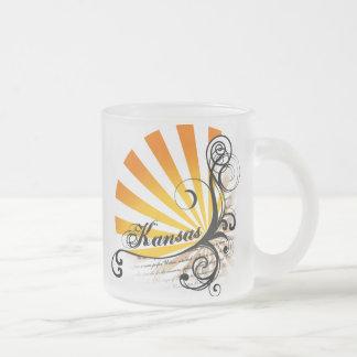 Sunny Floral Graphic Kansas Mug Glass