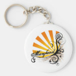 Sunny Floral Graphic Maryland Keychain