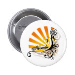 Sunny Floral Graphic Nevada Button