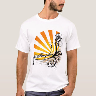 Sunny Floral Graphic New Hampshire T-Shirt