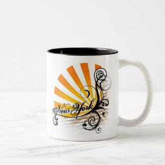 Sunny Floral Graphic New York Mug