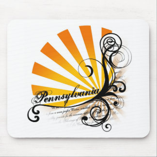 Sunny Floral Graphic Pennsylvania Mousepad