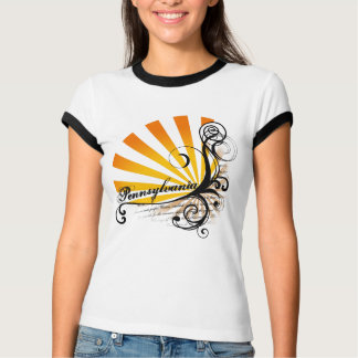 Sunny Floral Graphic Pennsylvania T-Shirt Ringer
