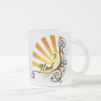 Sunny Floral Graphic Utah Mug Glass