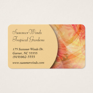 Sunny Floral Mix Business Card