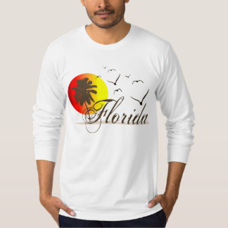 Sunny Florida Beaches Sunset Seagulls T-Shirt