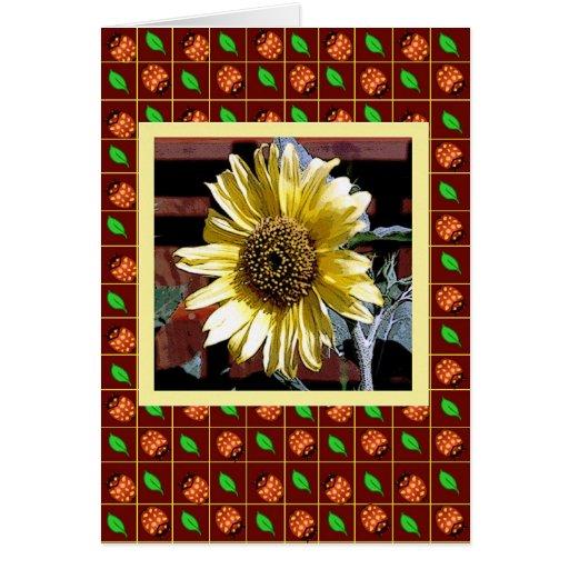 Sunny Flower by Debbie Jensen Card