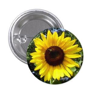 Sunny Flower Corsage - Allergy-Free! 1 Inch Round Button