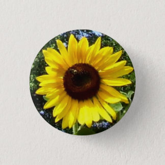 Sunny Flower Corsage - Allergy-Free! Pinback Button
