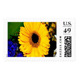 Sunny Flower Large Postage Stamp