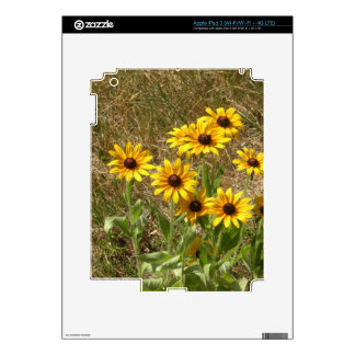 sunny flowers skin for iPad 3