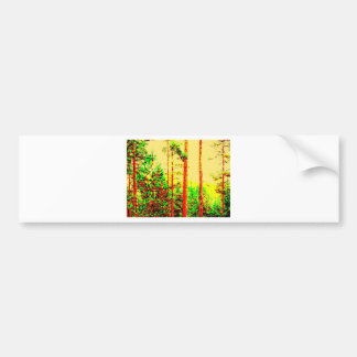 Sunny forest bumper stickers