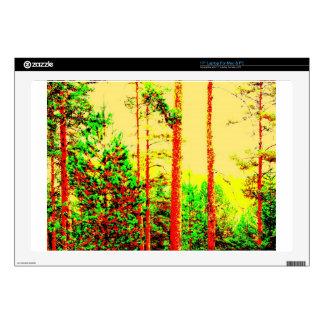 Sunny forest laptop skin