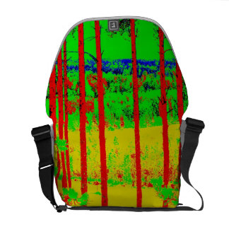 Sunny forest Medium Messenger Bag