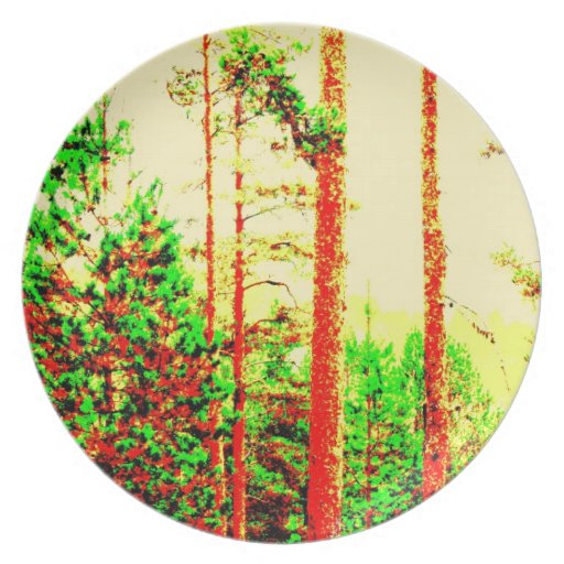 Sunny forest plates
