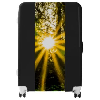 Sunny Forest Print Suitcase