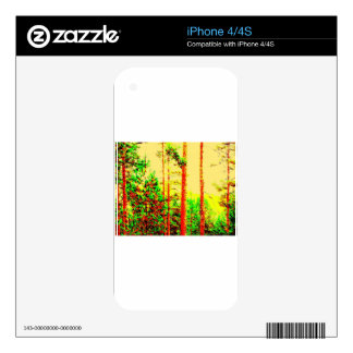 Sunny forest skin for the iPhone 4