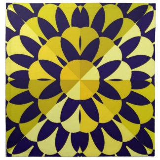 Sunny Fractal Art Napkin
