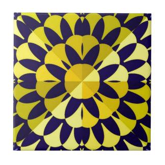 Sunny Fractal Art Ceramic Tile