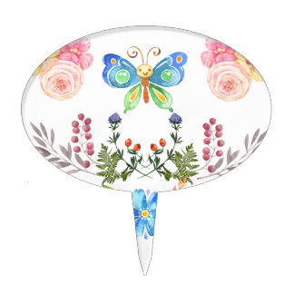 Sunny Garden-& Butterflies Multi products Cake Topper