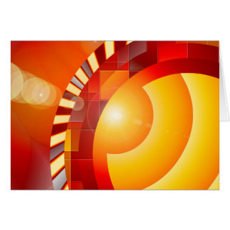 Sunny geometric abstraction card