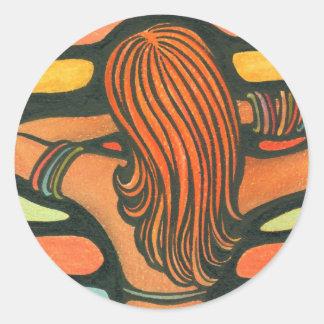 Sunny Girl Classic Round Sticker
