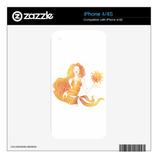 Sunny girl skin for the iPhone 4